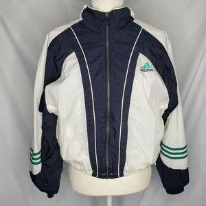VTG ADIDAS zip up badge of sport track wind jacket
